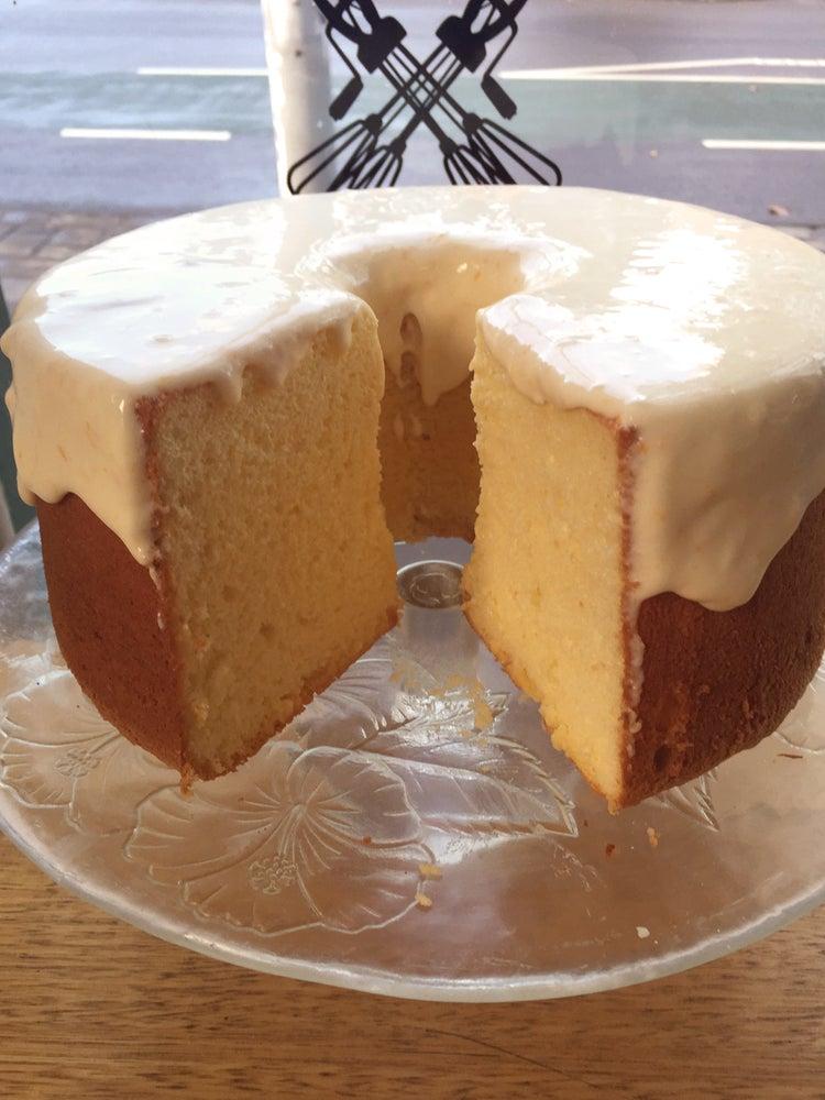 Image of Citrus chiffon cake with sour cream glaze