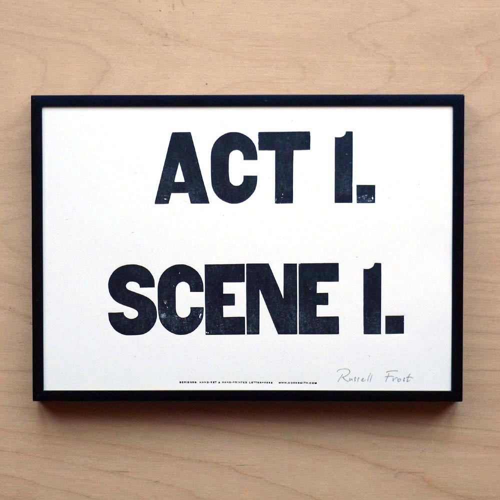 "Image of ""Act 1. Scene 1"" print by Hooksmith Press"