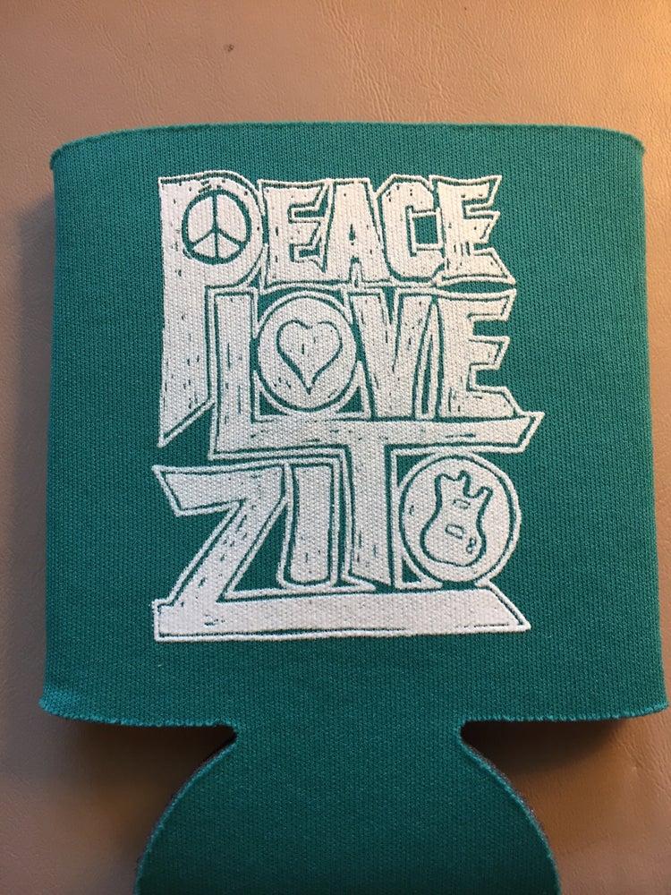 Image of Peace Love Zito Koozie