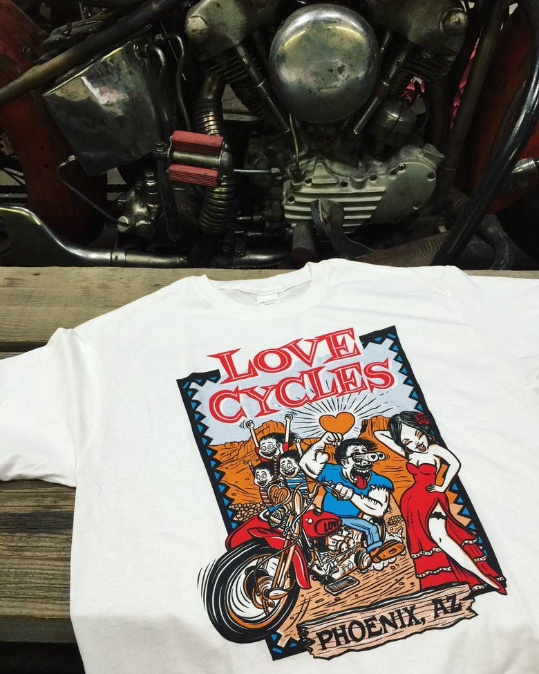 Image of Knucklehead Sidecar Riding Family Tee