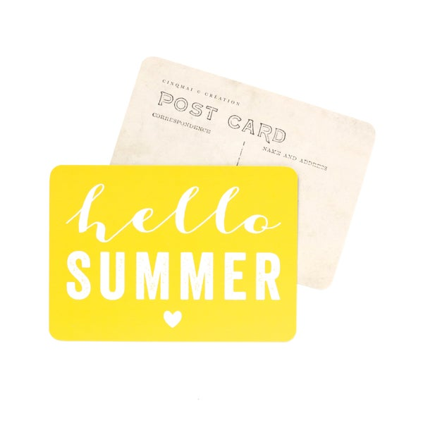 Image of Carte Postale HELLO SUMMER / CITRON