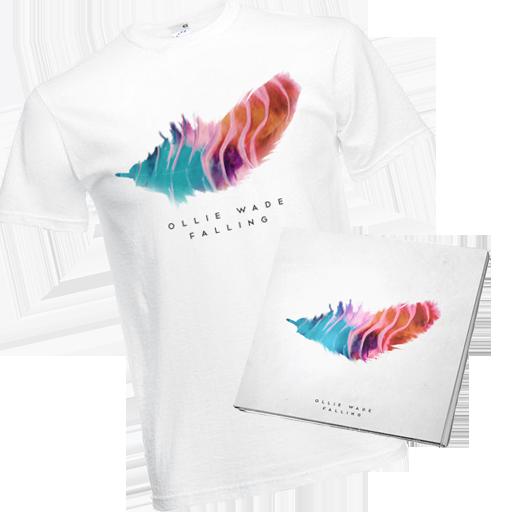 Image of 'Falling' EP + T-Shirt (Save 30%)