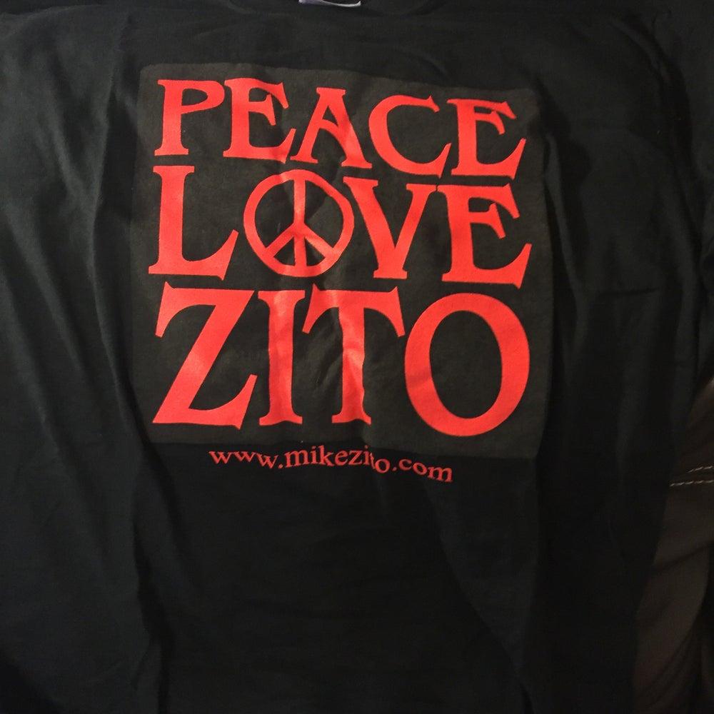 Image of PEACE LOVE ZITO (black) - MENS T-SHIRT