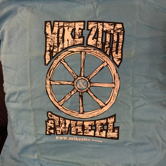 Image of Mike Zito and the Wheel (blue) womens v-neck t-shirt