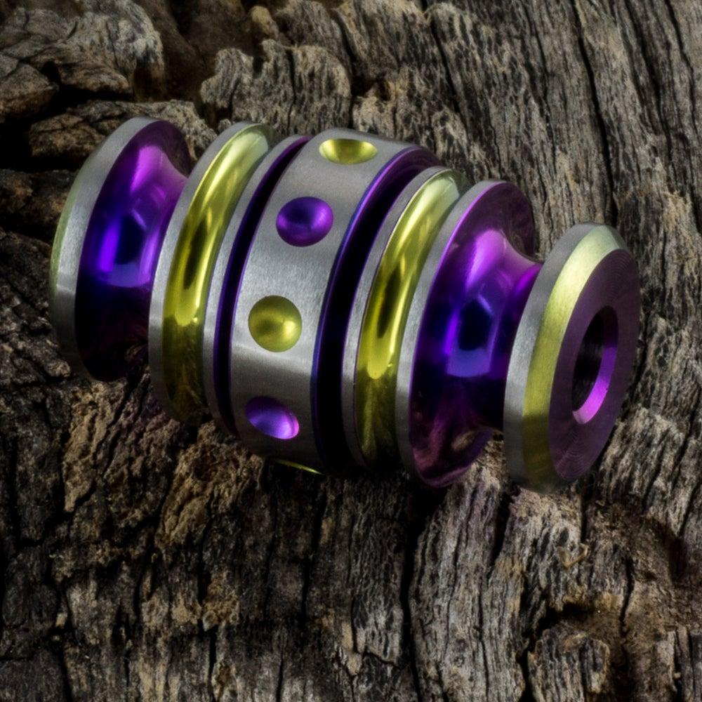 Image of Kong Bead Purple & Yellow #1