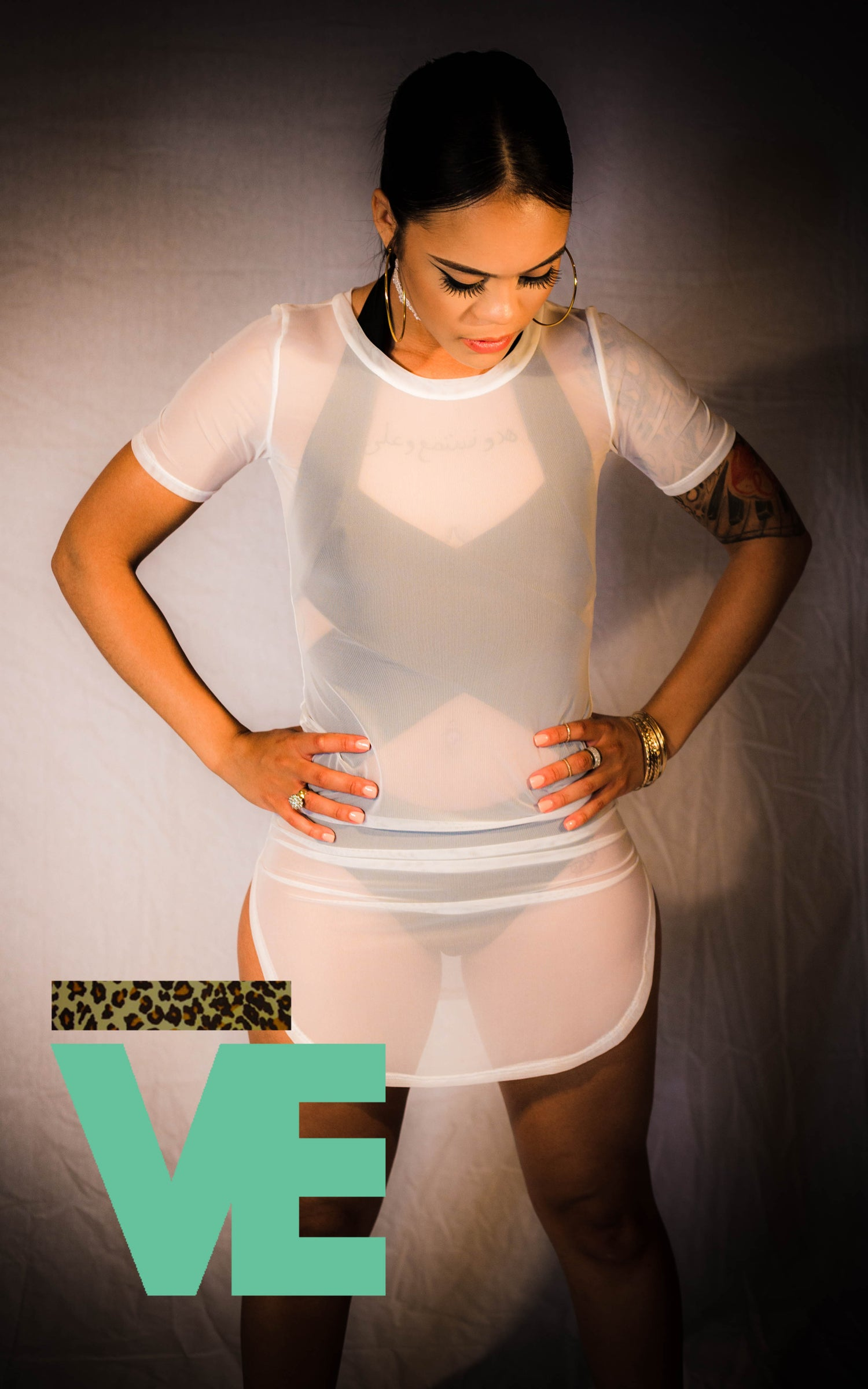 Image of Mesh Dress/Coverup