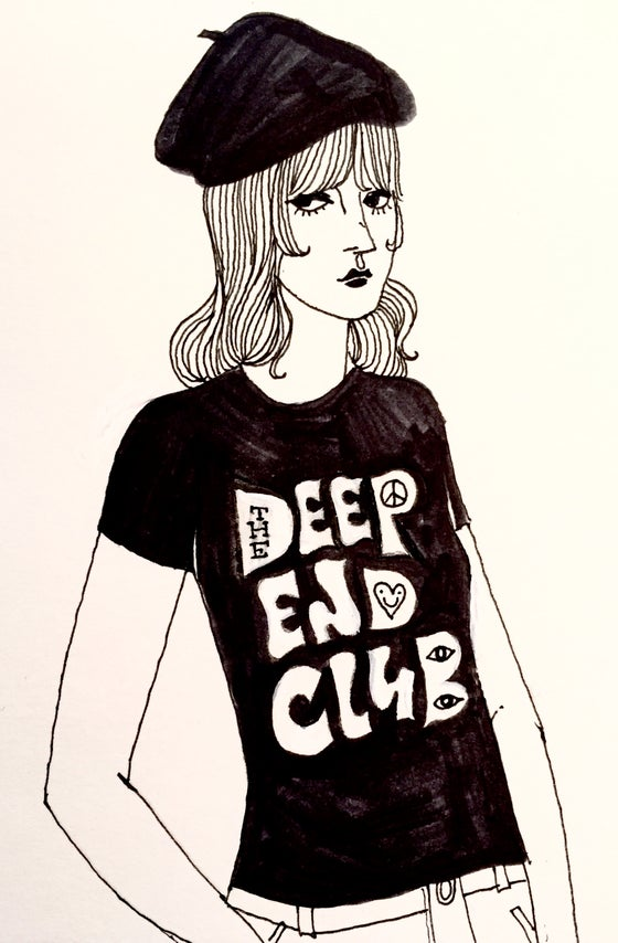 Image of The Deep End Club Tshirt (black)