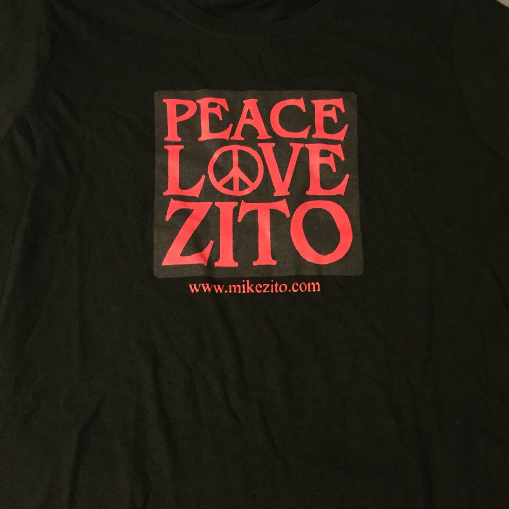 Image of PEACE LOVE ZITO - WOMENS T-SHIRT