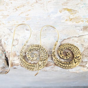 Image of Coiled Snake Earrings |Shantique Designs|