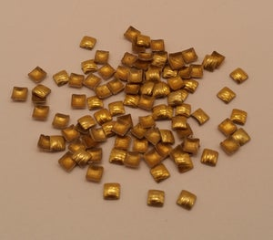 Image of Etched square nail art studs (100 pcs) 3x3mm Gold or silver