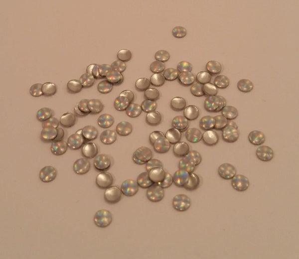 Image of Holographic nail art studs (100 pcs) 3mm Plain, stripe or dotty