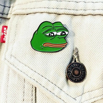 Image of 🐸 Pepe The Frog Lapel Pin (Pepe Memes, Rare Pepe)