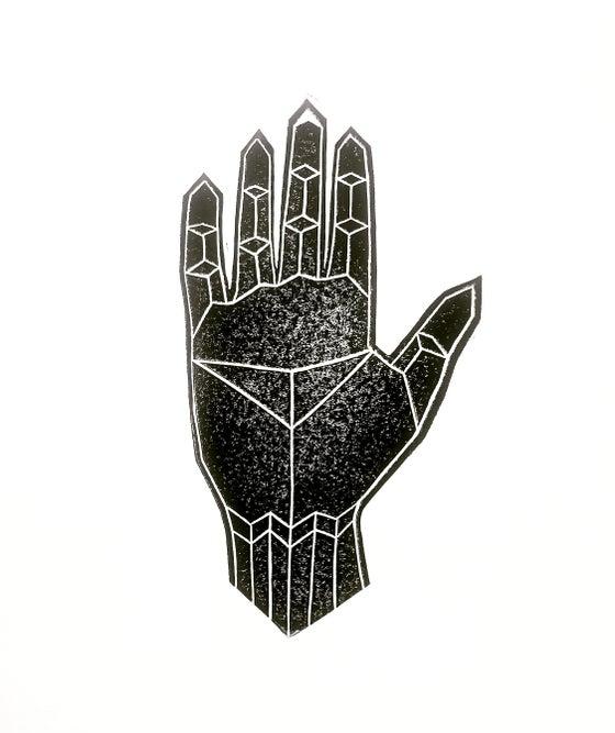"""Image of """"Link"""" - Original Linocut Print"""