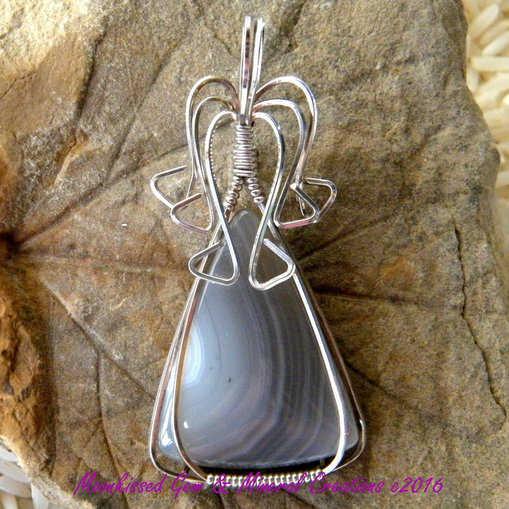 Image of Choyas Agate Sterling SIlver Wirewrapped Pendant