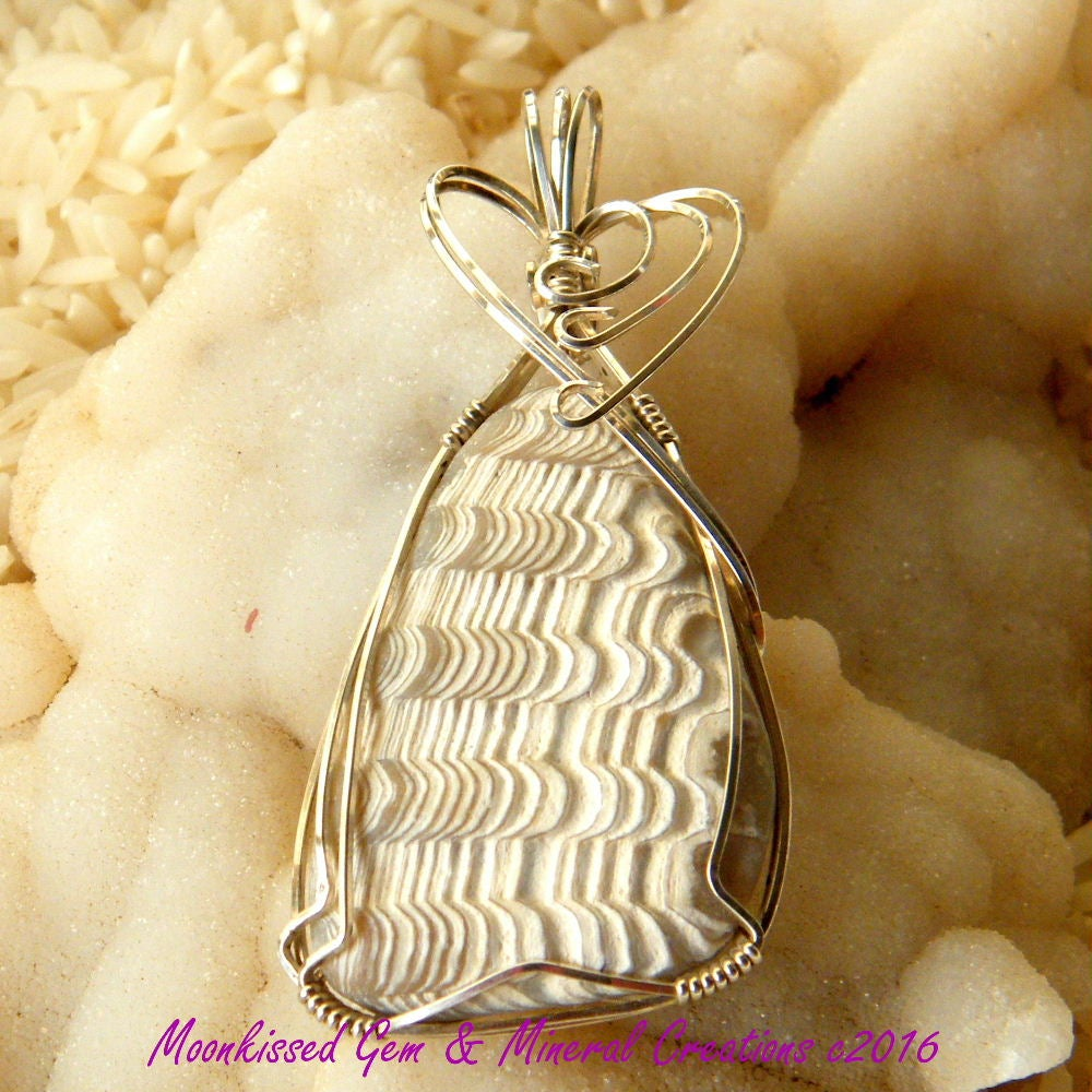 Image of Shell Sterling Silver Wirewrapped Pendant