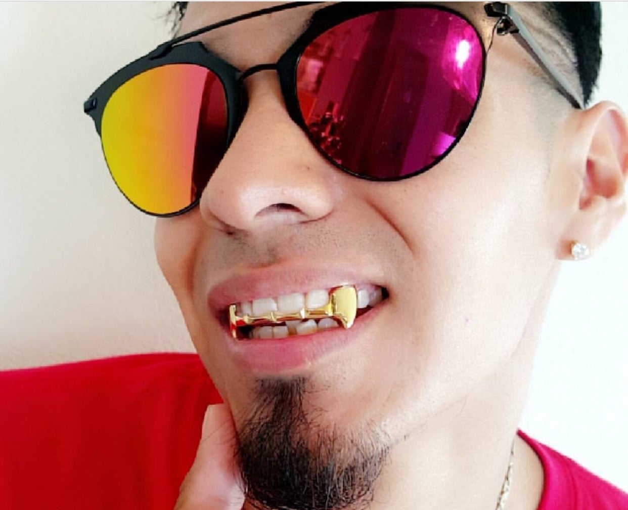Image of OUTLINE OPEN FACE FANG (Gold) GRILLZ