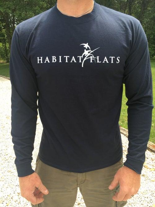 Image of Habitat Flats Long Sleeve Navy Shirt