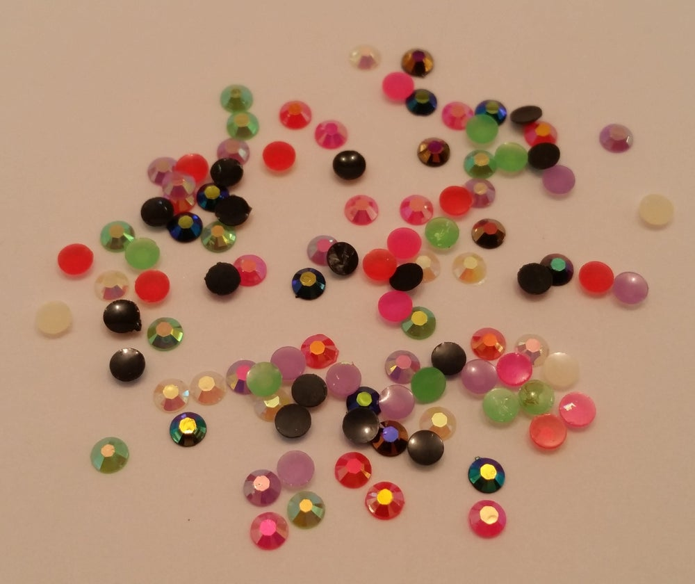 Image of Ab gems (100 pcs) 3mm Small colour range available