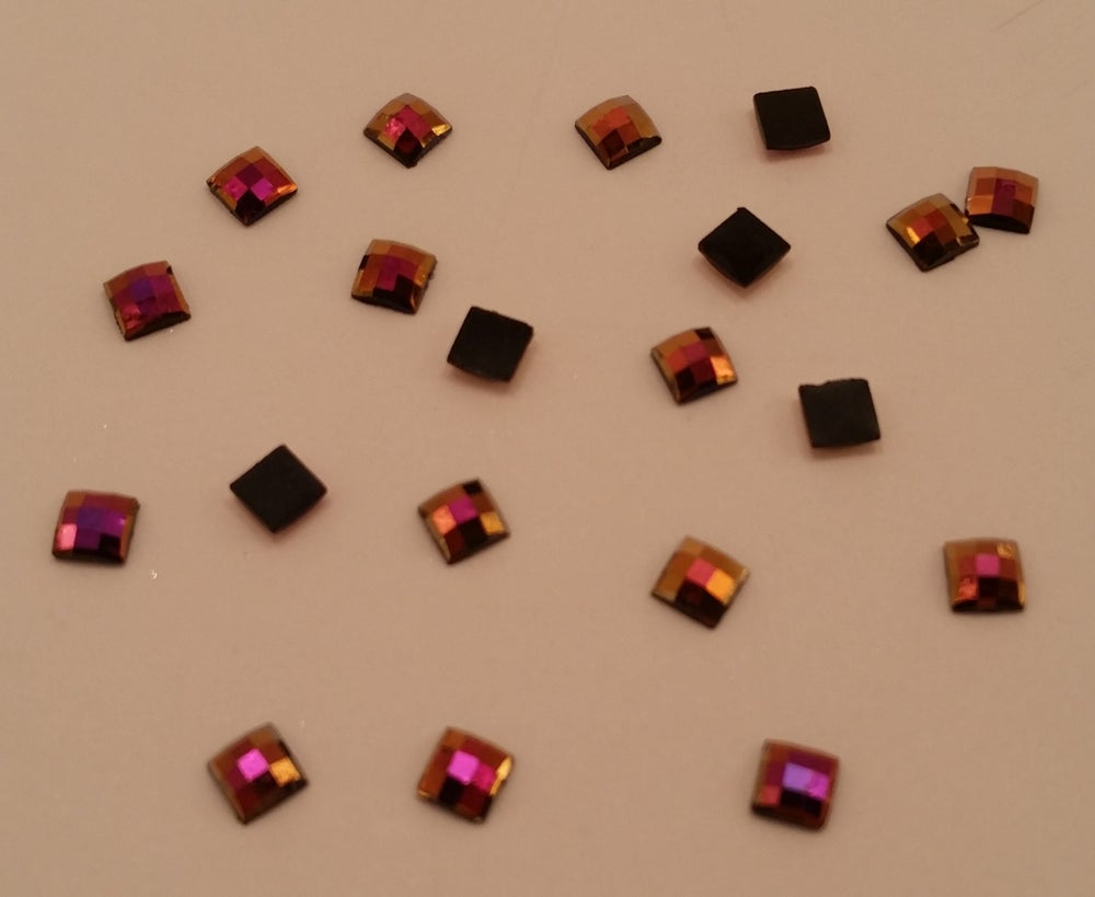 Image of Ab square charms (20 pcs) 4x4mm