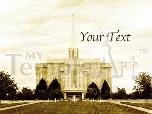 Image of St Louis Missouri LDS Mormon Temple Art 001-Personalized LDS Temple Art