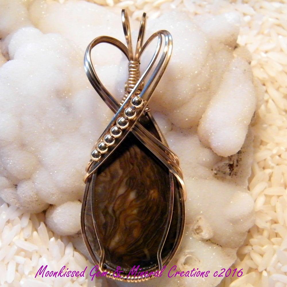 Image of Royal Sahara Jasper 14 Karat Gold Fill Wirewrapped Pendant