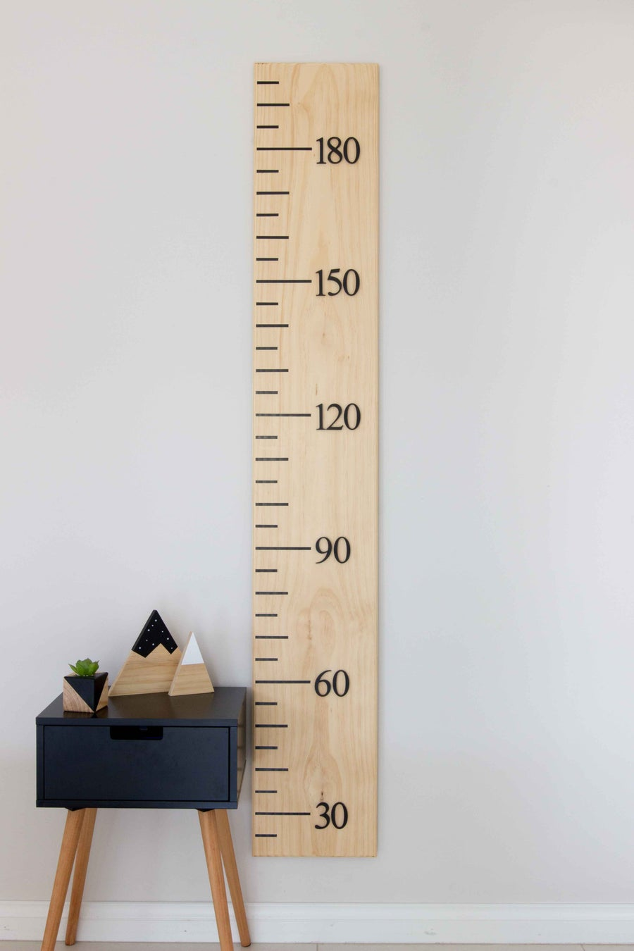 Image of Timber Growth Chart, Standard Width, Plain (Raw) Pine