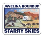 "Image of Javelina Roundup Decal - ""Starry Skies"""