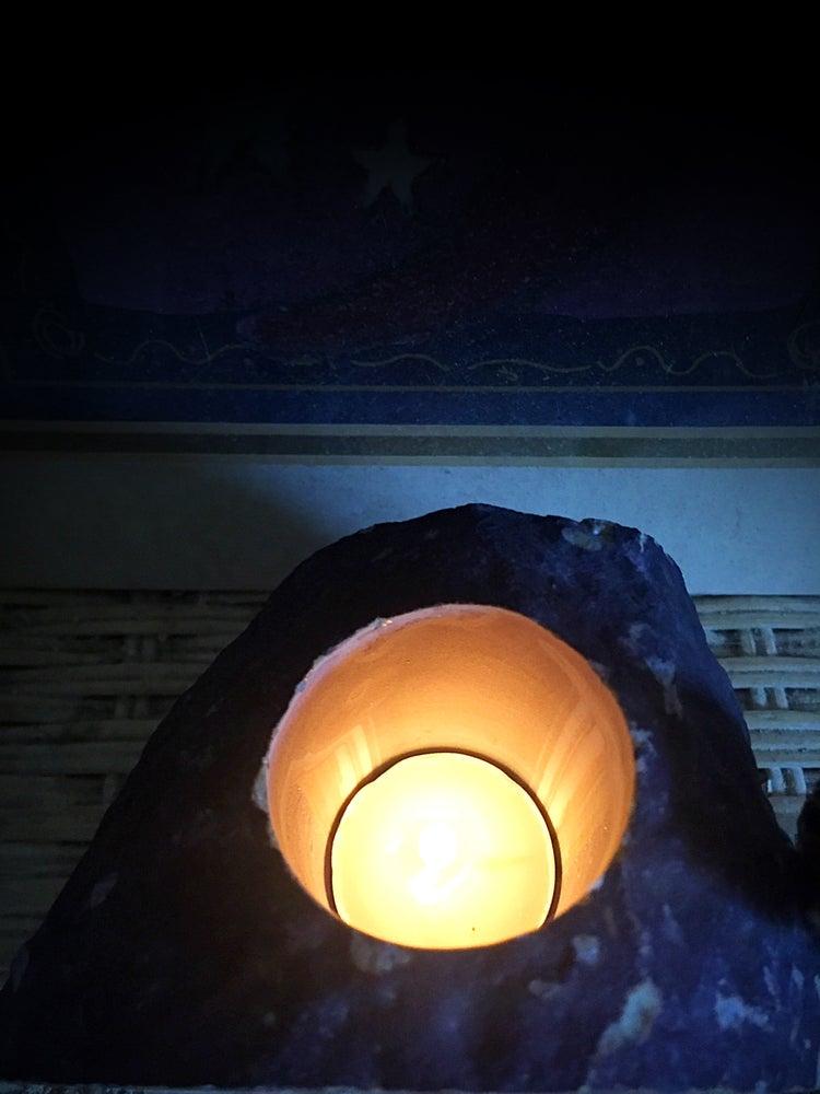 Image of Brazilian Agate Candleholder