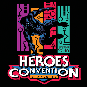 Image of HeroesCon 2016 Black Panther T-Shirt