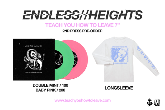"""Image of ENDLESS HEIGHTS 7"""" Inch (1 Vinyl colour) + Longsleeve Pre-order"""