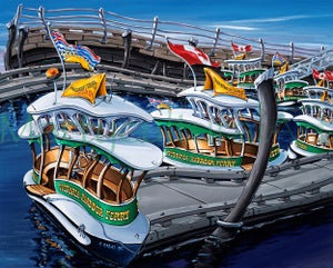 Image of Victoria Harbour Ferries Open Edition Giclee