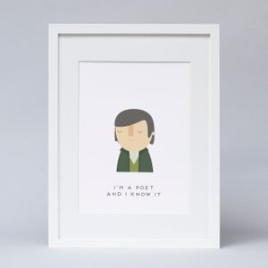 Image of  Robert Burns poet Print