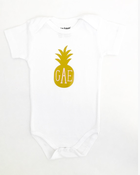 Image of Pineapple Monogram Onesie