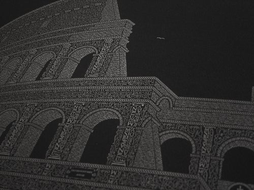 "Image of Colosseo 24""x16"" Limited Edition Poster (Black)"