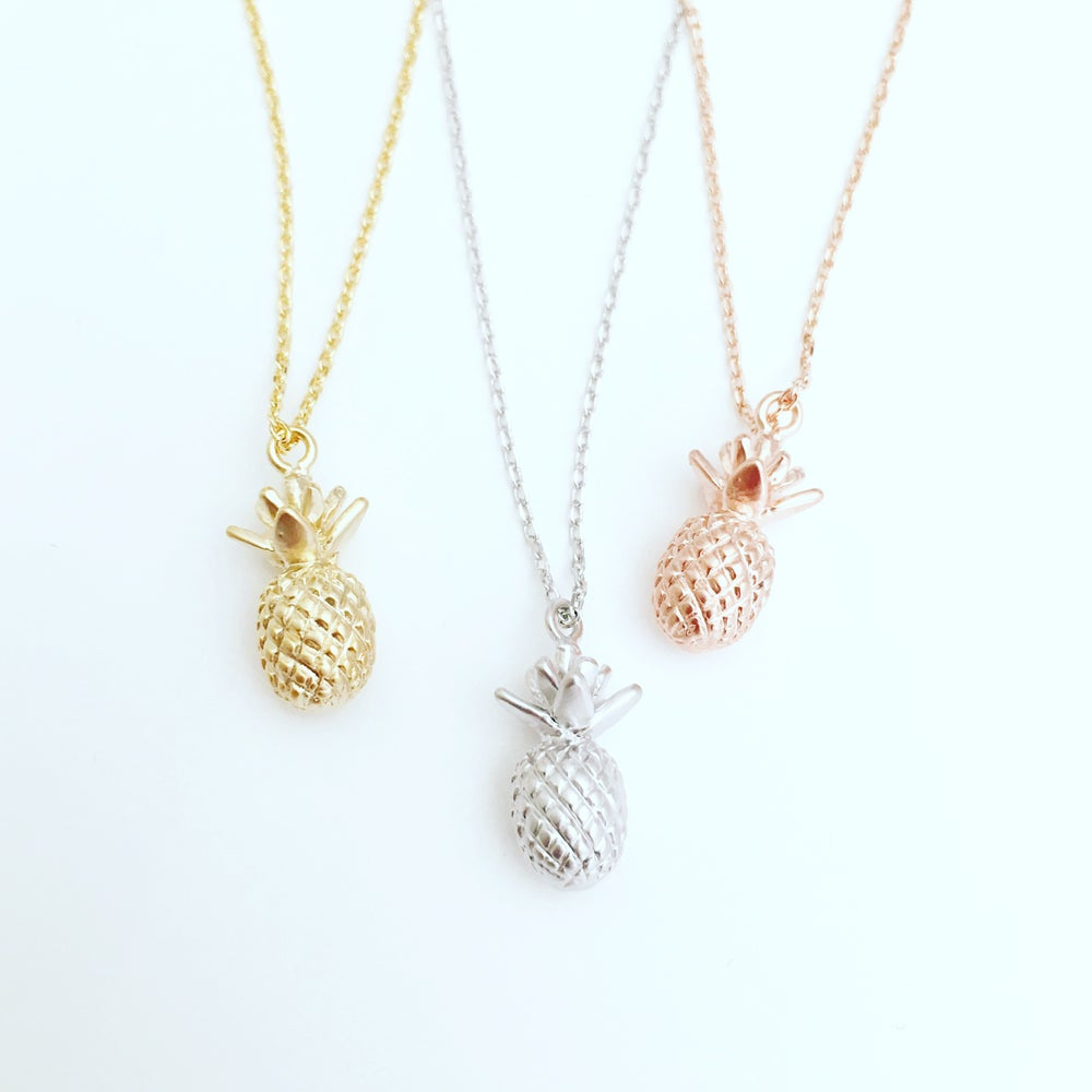 Image of 3-D pineapple necklace