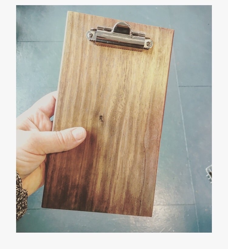 "Image of Walnut clipboard 5""x9"""