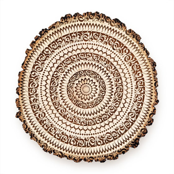 Image of ENGRAVED 'MANTRADALA' | Wood Slice