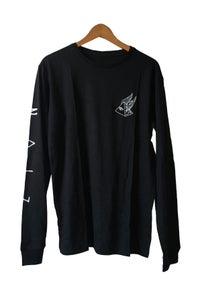 Image of PYRAMID SCHEME LONG SLEEVE TEE <br /> BLACK