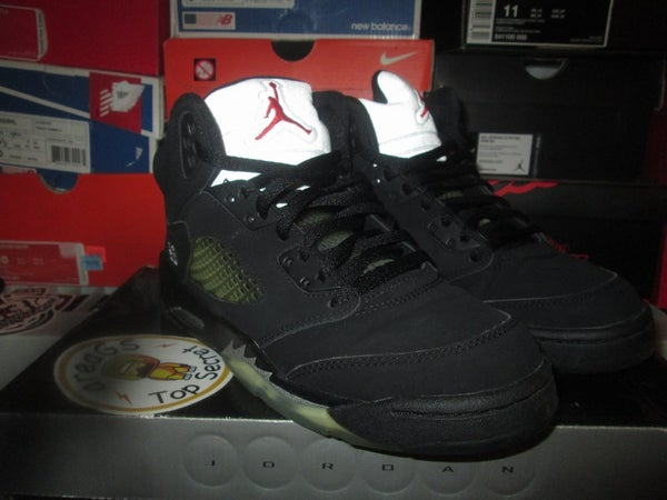 "Air Jordan V (5) Retro ""Metallic/Blk"" 2007 GS *PRE-OWNED* - areaGS - KIDS SIZE ONLY"