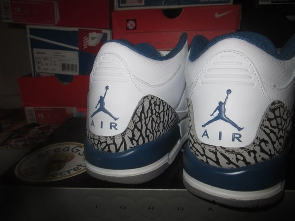 """Air Jordan III (3) Retro """"True Blue"""" GS *PRE-OWNED* - areaGS - KIDS SIZE ONLY"""