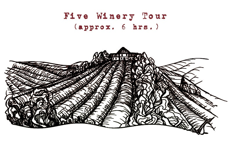 Image of Five Winery Tour Approx. 6 hrs.