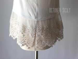 Image of Lace Top Shirt Extender *Style 6* Small-3XLarge