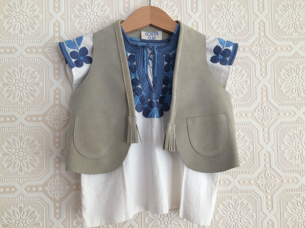 Image of COSTA SUR- Kids Playa Suede Vest