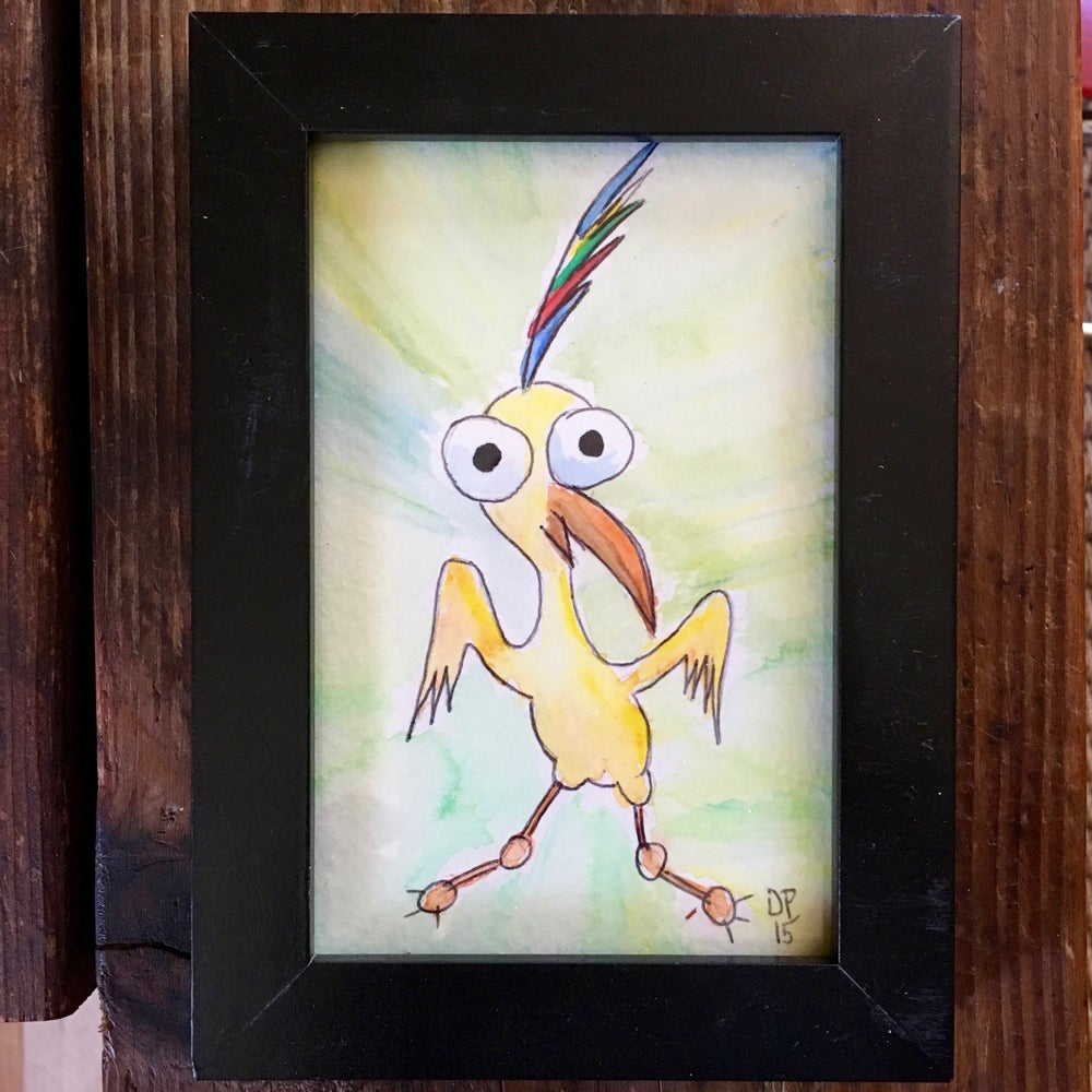 Image of Election Day Bird #2 Original Watercolor Painting by Dan P.