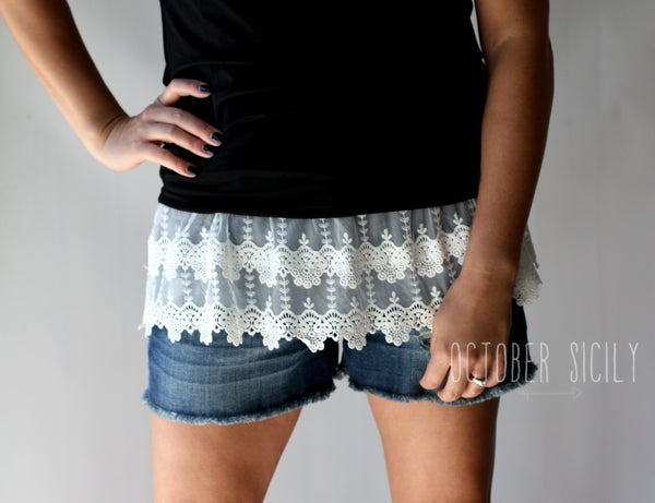 Image of Lace Top Shirt Extender *Style 5* Small-3XLarge