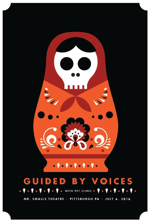 Image of Guided By Voices Pittsburgh Silkscreen Poster - NEW!
