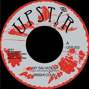"Image of Binghi Colin - 'My Salvation - 7"" vinyl (Upstir records JA)"