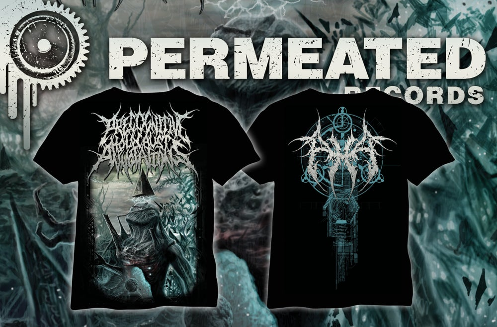 Image of Precognitive Holocaust Annotations - Procreation of the artificial Divinity - Full color T-Shirt