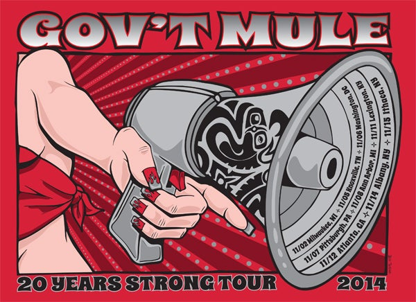 Image of Gov't Mule Fall Tour 2014
