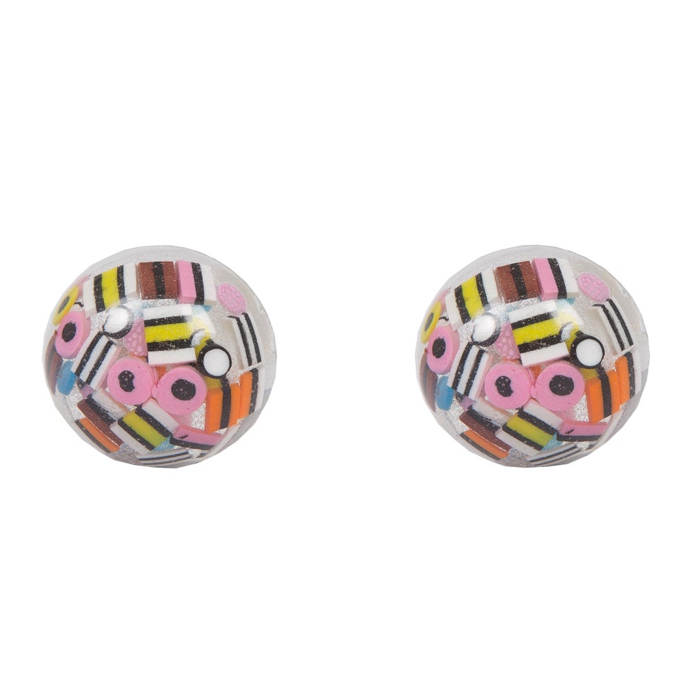 Image of Liquorice Allsorts Dome Earrings